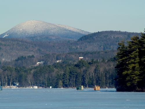 Wilson lake during the winter
