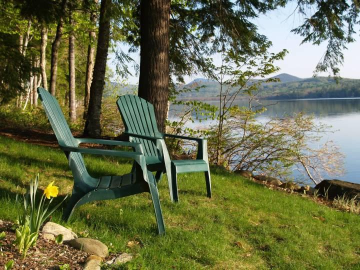 Lake view from chairs