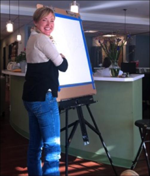 NECS Kennebunk Location Hosts Working ArtistThrough Maine Arts Commission Grant