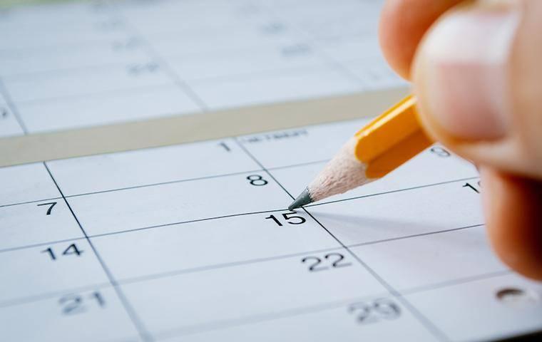 marking a calendar for a follow up apt
