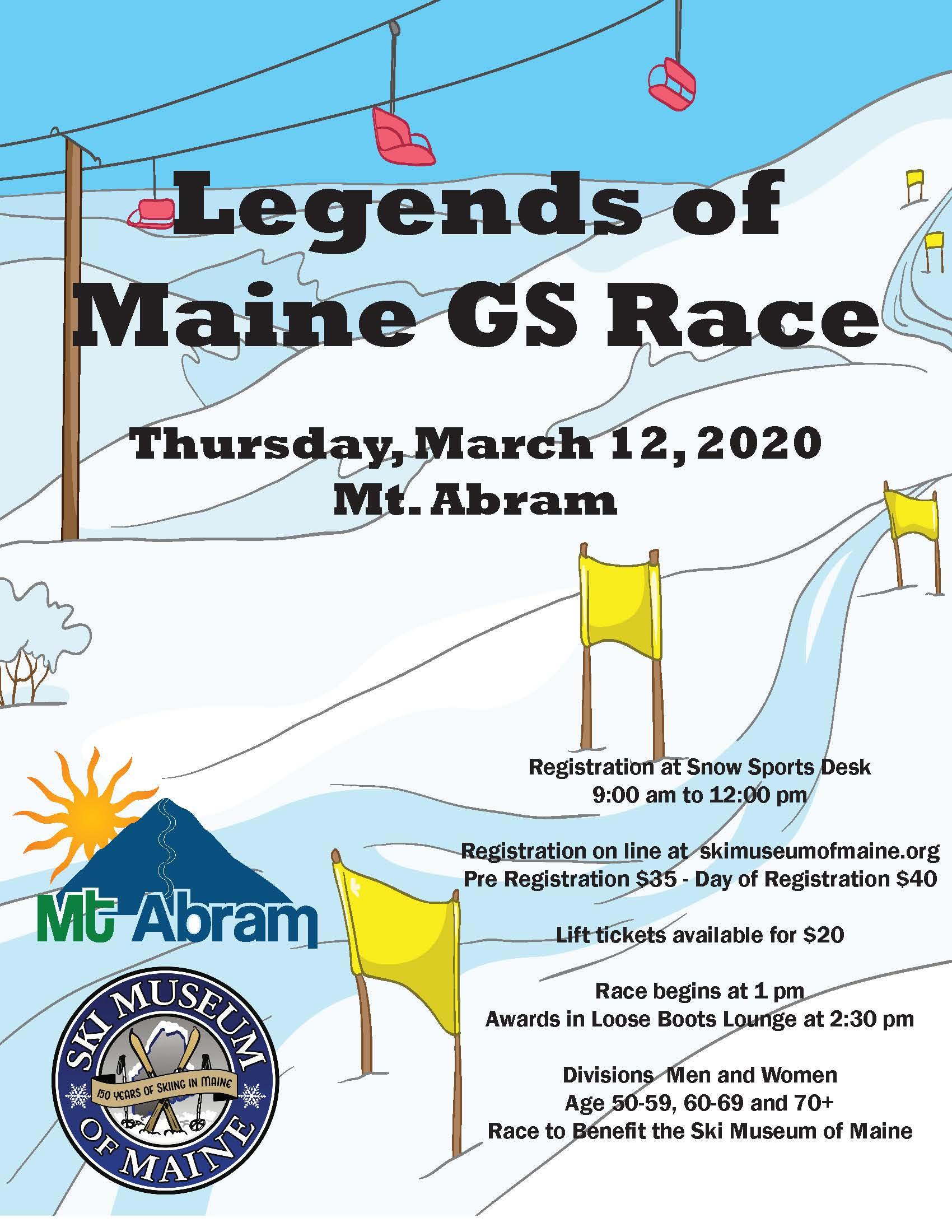 """""""Legends"""" GS Slalom Race 3/12 Mt. Abram"""