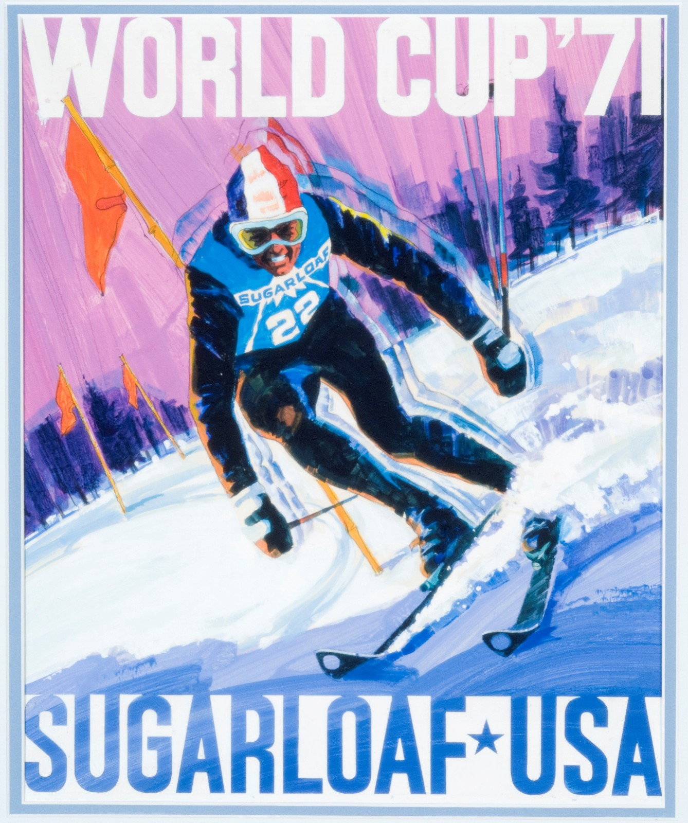 Preview of the next exhibit - Tall Timber Classic - 50th Anniversary of Maine's 1971 World Cup Ski Races at Sugarloaf. For more images, go to our Virtual Tours/Exhibits page.
