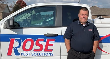 kokomo district manager George Meachum in front of Rose truck