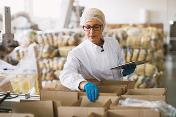 stock image of food processing facility