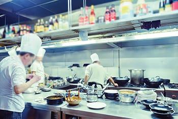 stock image of restaurant kitchen