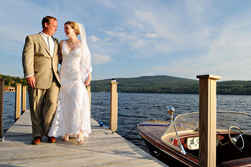 Couple on Dock w Boat