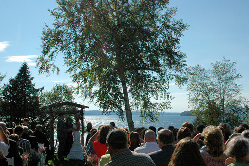 Lakeside Wedding wide shot