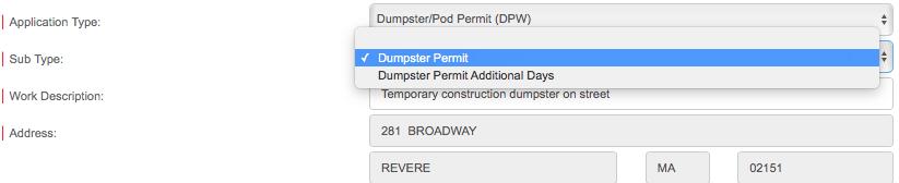 Dumpster sub type