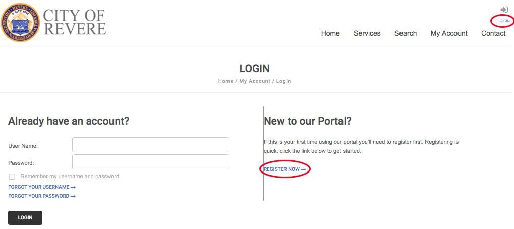 Login and registration