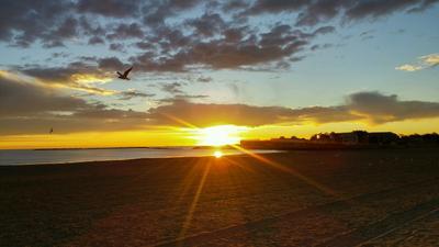 Sunrise on Revere beach