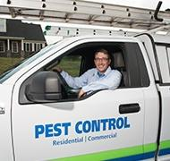 moyer service professional and pest control truck in pa