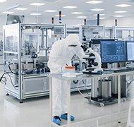 inside of pharmaceutical plant