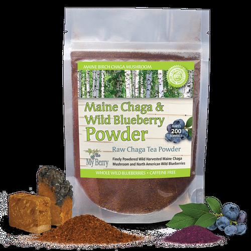 Maine Chaga & Wild Blueberry Powder
