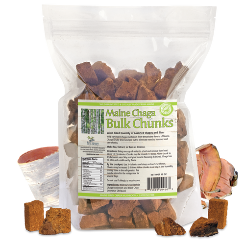 Maine Chaga Bulk Chunks, 15oz