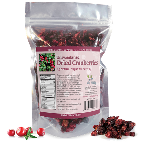 Unsweetened Dried Cranberries - 3oz