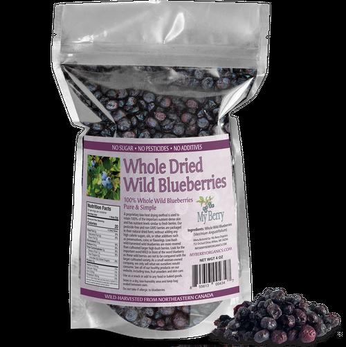 Whole Dried Wild Blueberries - 4oz