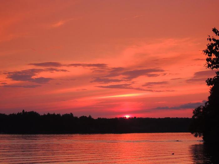 Sunrise over Cranberry Lake (Credit: Clifton-Fine ADK)