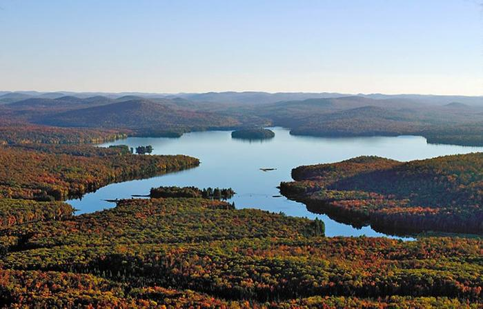 Aerial view of Cranberry Lake (Credit: Clifton-Fine ADK)