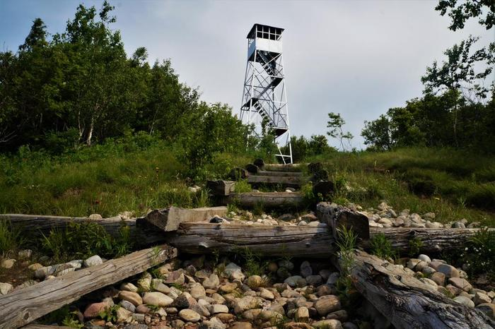 Azure Mt fire tower fully restored by the efforts of the Azure Mountain Friends. (Credit: Kate Hill)