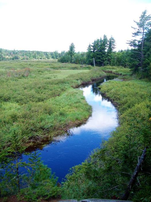 the winding Oswegatchie river (Credit: Wm Hill- Hiking the trail to yesterday)