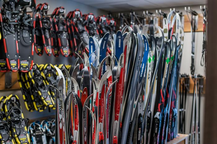 Skis and snowshoes are available to use free of charge (Credit: Nicandri Nature Center)