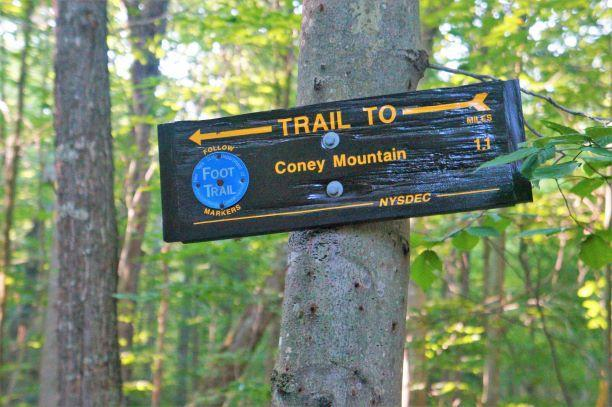 trail marked with blue discs (Credit: Wm Hill/Hiking the trail to yesterday)