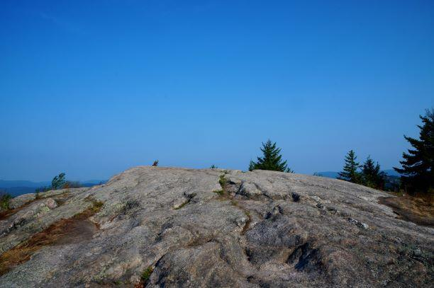 The bare summit of Coney Mt (Credit: Wm.Hill/Hiking the trail to Yesterday)