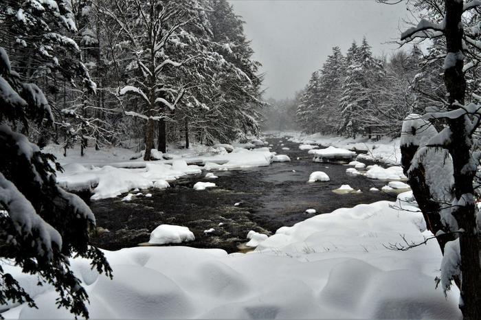 Snowy views along the Moore trail (Credit: Credit: Wm Hill- Hiking the trail to yesterday)