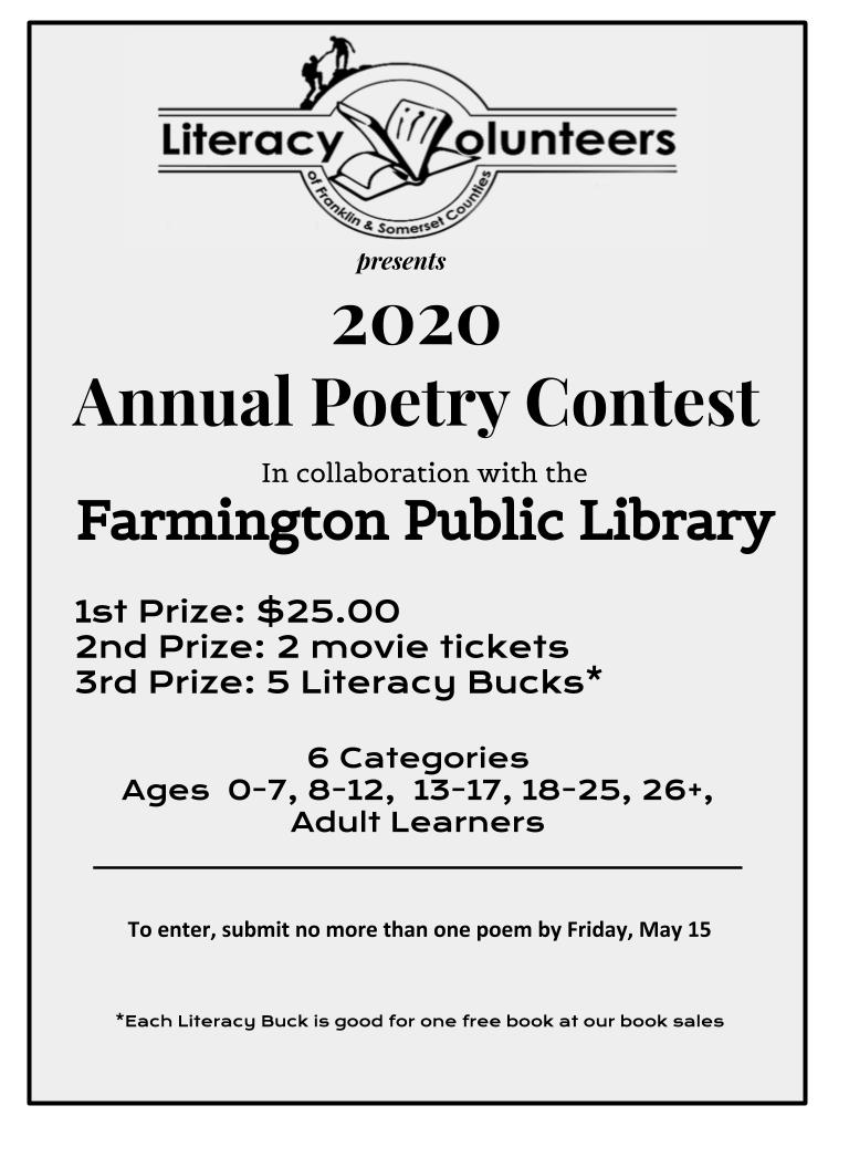 LVFSC 2020 Poetry Contest Flyer