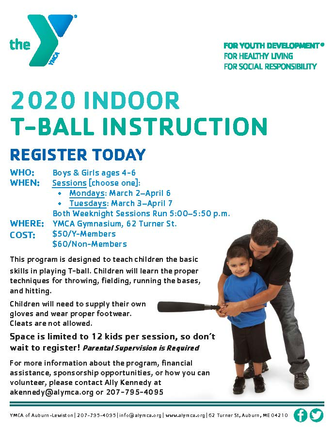 Indoor T-Ball Instruction