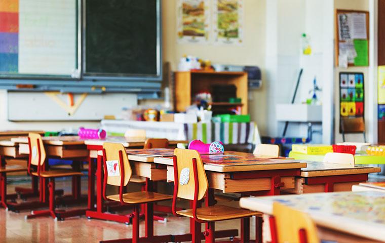 the interior of a classroom
