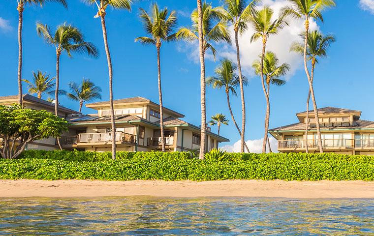 a row of rental properties