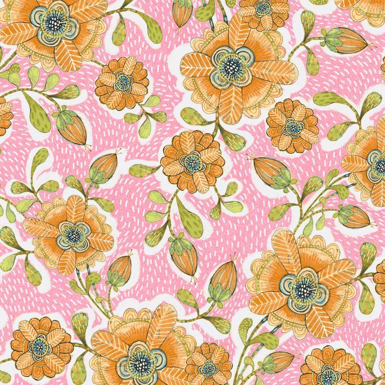 Hello World Blossoms Pink
