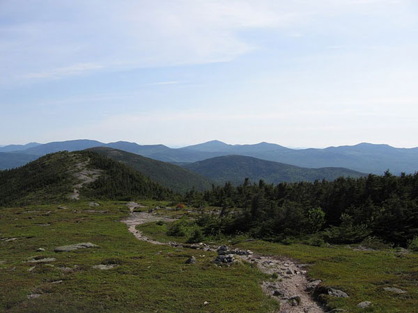 Appalachian trail on Saddleback