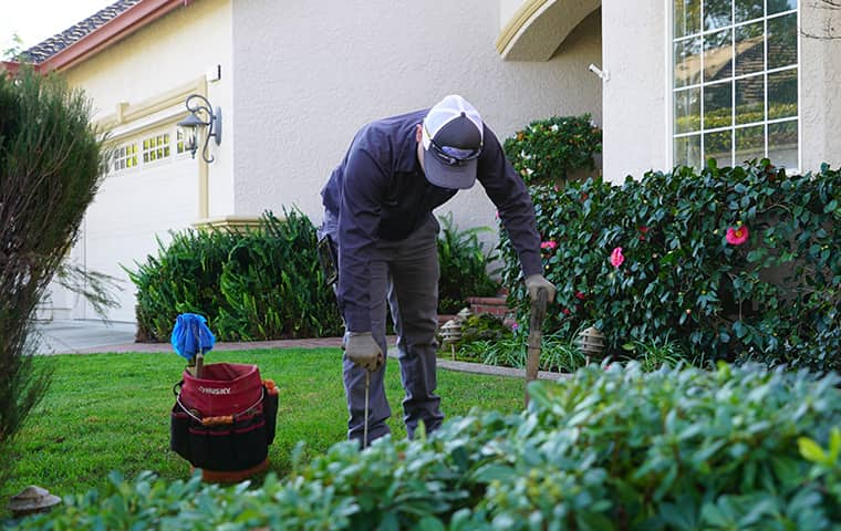a service technician servicing a home in monterey california