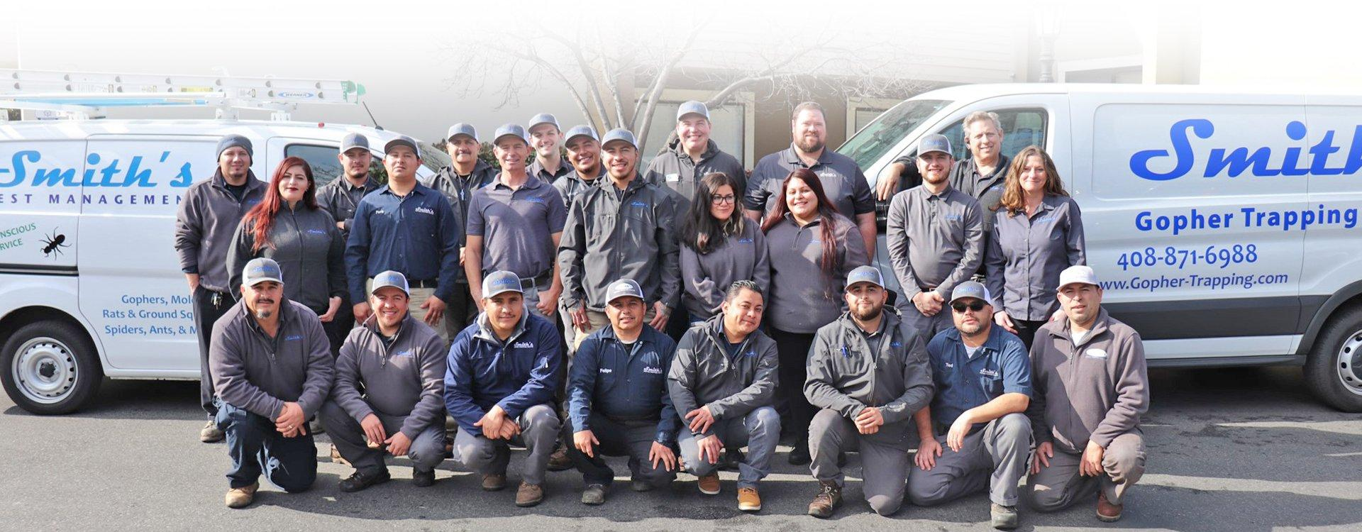 smith's pest management pest and wildlife control team of san jose