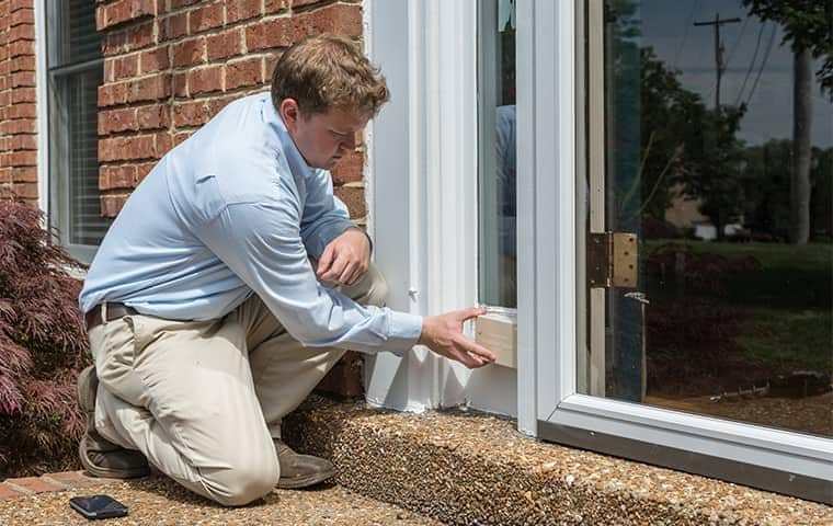 a professional pest control technician inspecting a home in nashville tennessee